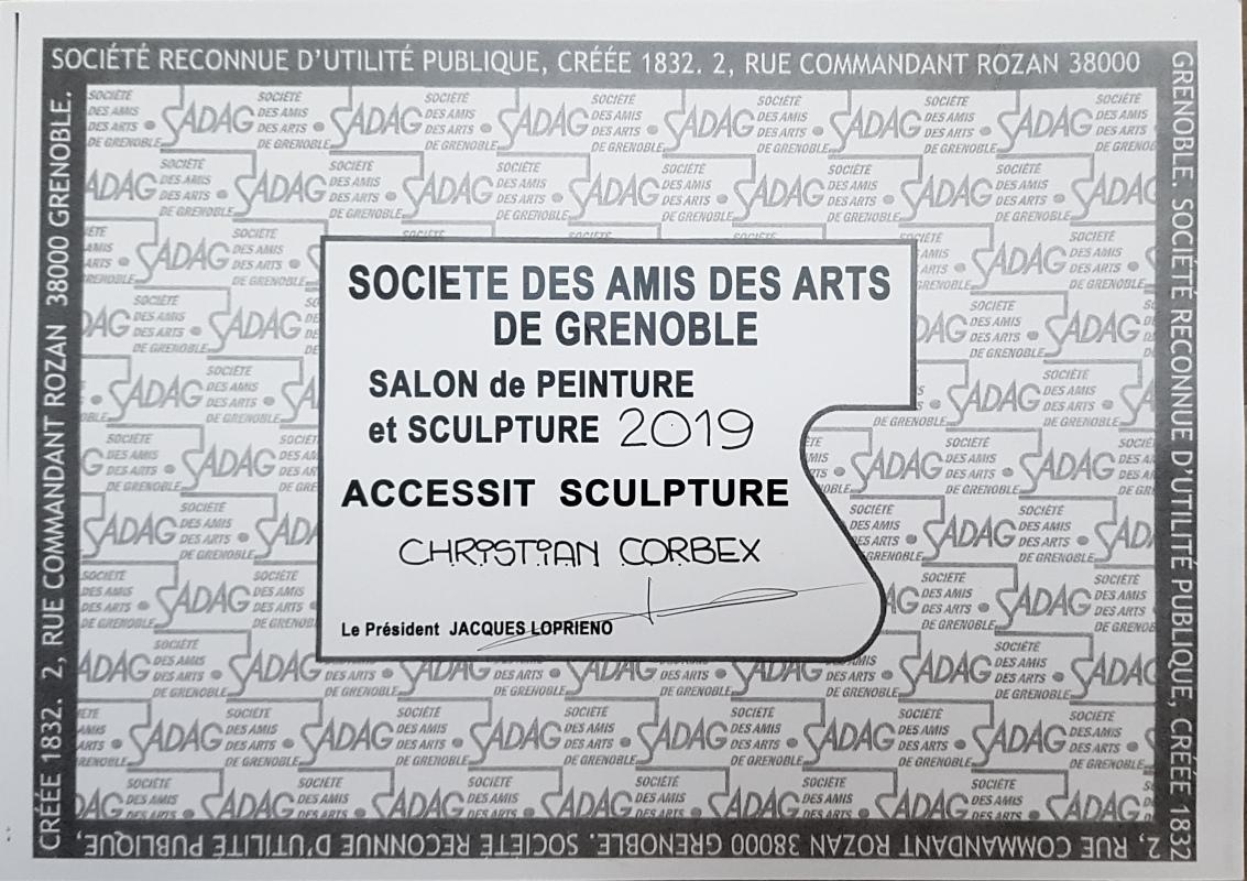 1er Accessit sculpture SADAG2019